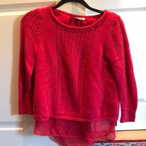 Lucky Brand comfy red sweater
